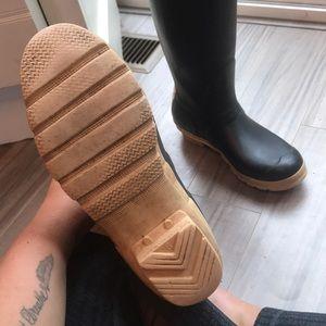 Hunter Shoes - Hunter black rain boots